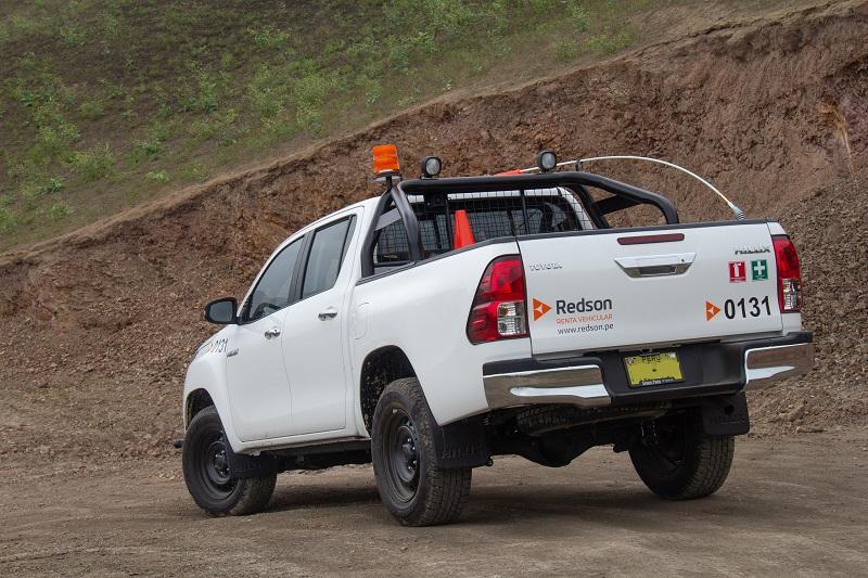 camioneta 4x4 toyota hilux para proyectos de minería y construcción