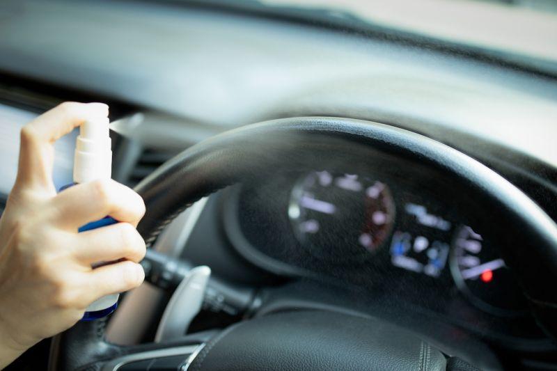 desinfección de vehículo