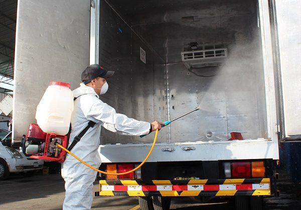 desinfección interior vehículos furgon para evitar covid19